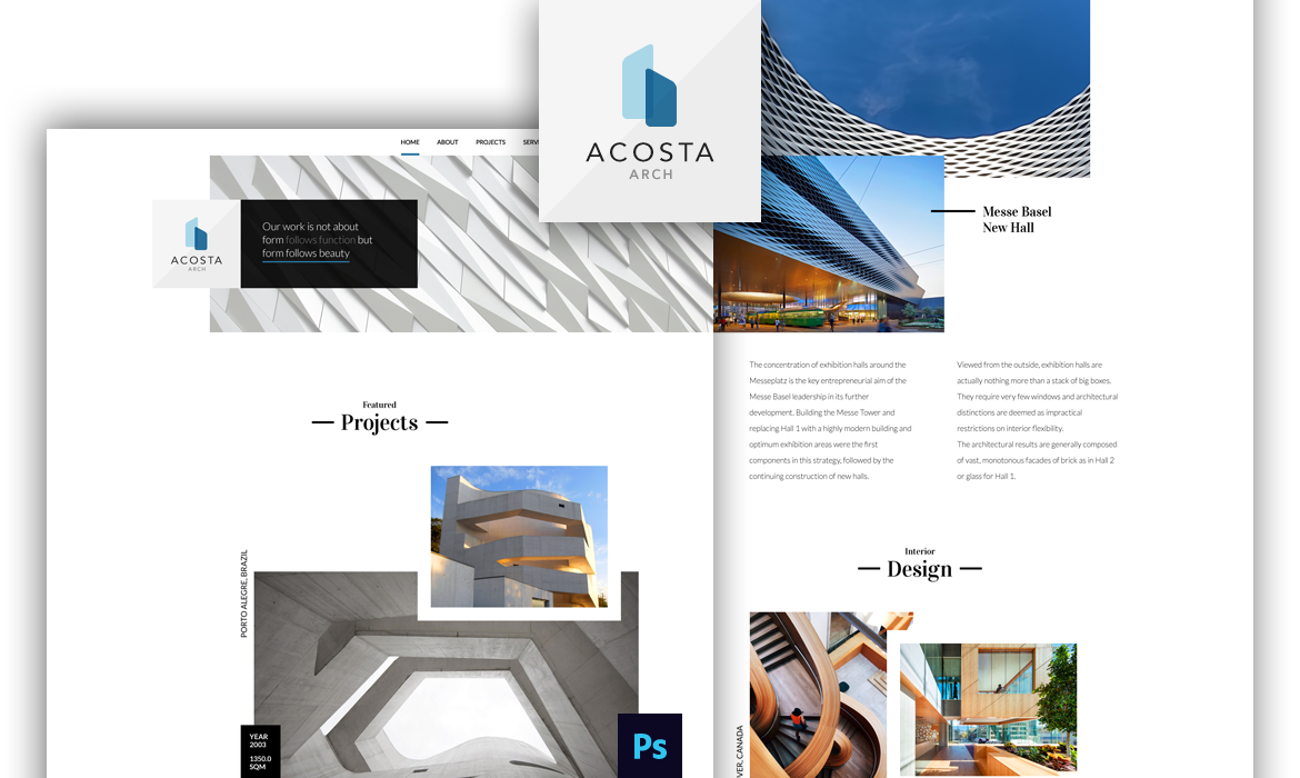 Acosta Arch template preview